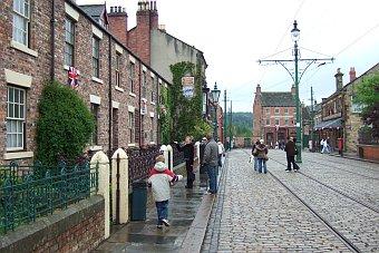 Beamish Museum niedaleko Newcastle kamieniczki Anglia Wielka Brytania