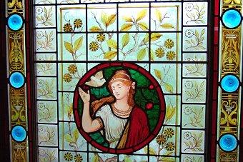 Beamish Museum niedaleko Newcastle - epoka Wiktoriańska witraż Anglia Wielka Brytania