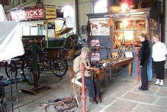 Beamish Museum niedaleko Newcastle - starodawna zajezdnia Anglia Wielka Brytania