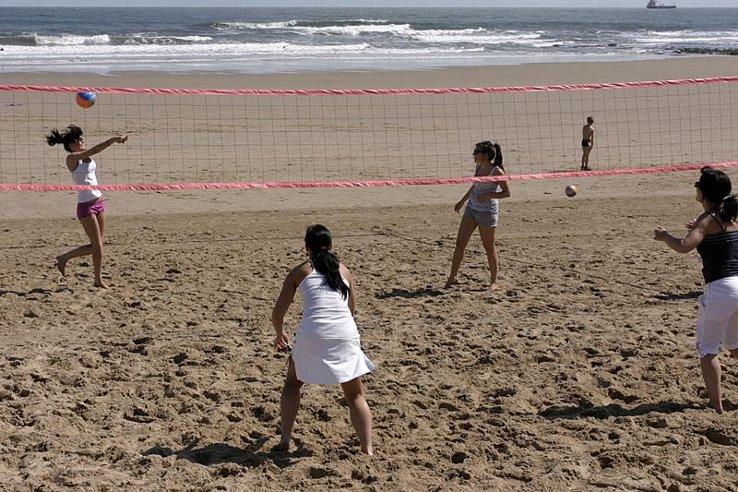 Siatkówka plażowa w Tynemounth koło Newcastle