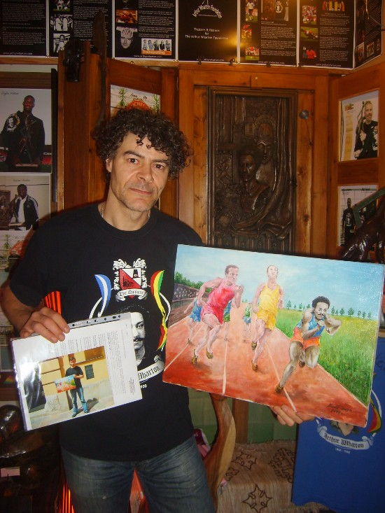 "obraz ""Biegacze"" i Shaun Campbell"