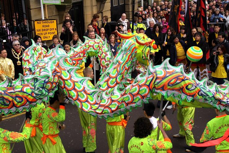 Chiński Nowy Rok 2010 w Newcastle