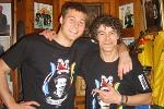 Na zdjęciu Przemyslaw Kazimierczak (byly bramkarz Darlington FC) i pomysłodawca kampanii Shaun Campbell.