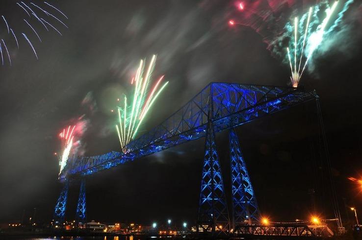 Transporter Bridge w Middlesbrough