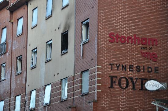 pożar Newcastle